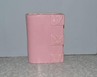 Vintage Pink Pottery Vase Planter