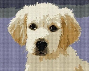 Needlepoint Kit or Canvas: Puppy