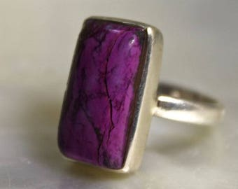 Ring 925 sterling silver simple setting and Sugilite