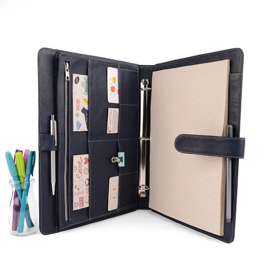 ORIGINAL A4 Leather Ring Binder Planner / Organizer 3 Or 4
