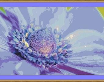 Anemone Cross Stitch Pattern