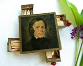 Match Holder - Match Striker Box - Tobacciana - Hans Best - Decorative Match Holder - Smoking Accessory - Picture Box - Book of Matches