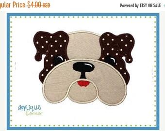 50% Off 008 Bulldog boy applique digital design for embroidery machine by Applique Corner