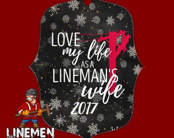 Lineman's Wife Christmas Ornament Linewife Linelife