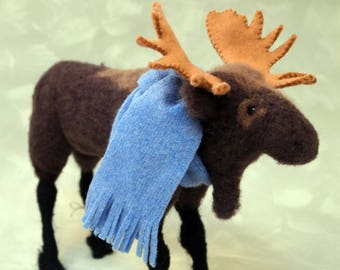 needle felted moose hand made original one of a kind
