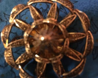"""Antique Starshell Pin  4"""""""