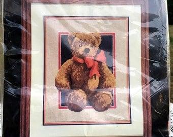 17% OFF SALE Monarch Horizons Bear/Needlepoint Teddy Bear/NOS Needlepoint Kit/11 x 14 Roger W Reinardy/Antique Teddy Bear Kit/Multi Design N