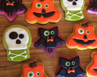 Assorted Halloween cookies