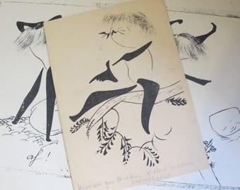 Kukelhaus: 1952 Träumling. Wort, Bild und Schrift von Hugo Kükelhaus, Mid Century GERMAN Art Booklet, Art Show or Gallery Art Brochure