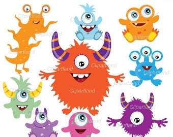 ON SALE INSTANT Download.  Monsters clipart. Cm_8. Personal and commercial use.
