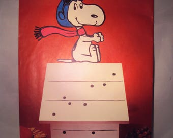 Snoopy and the Red Baron Centerpiece by Hallmark, vintage