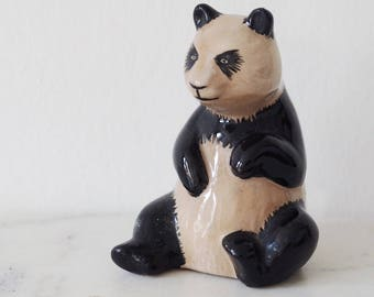 Vintage Ceramic Panda Bottle With Cork