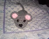 Custom crochet mouse toy