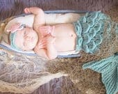 Mermaid Newborn Outfit Photography Prop - Hot Pink