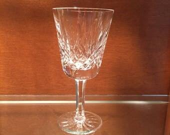 Waterford Wine / Vintage Waterford Irish Crystal Claret Wine Glass / Lismore Pattern Crystal Wine Stemware