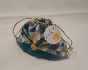 origami for baptism or wedding favors pouch
