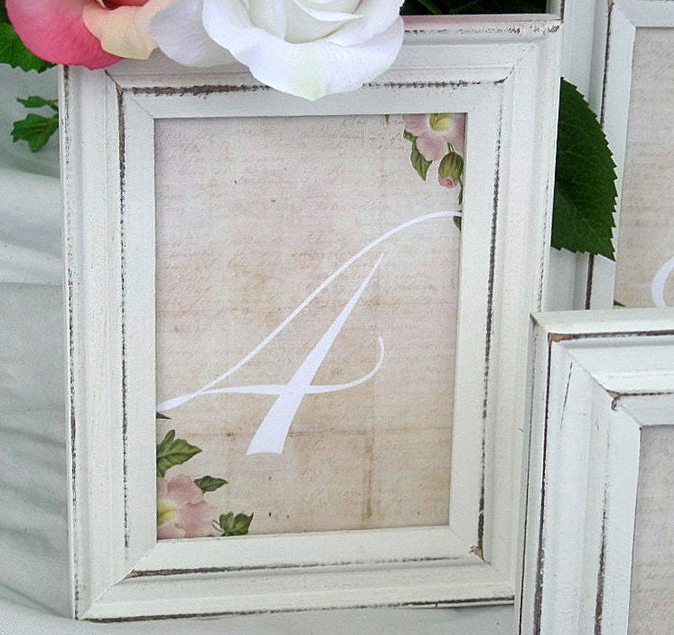 wedding table card frames whitewash wood frames wedding table number rustic table card frame vintage distressed - Whitewashed Picture Frames