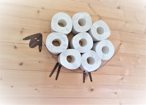 sheep shelf a wall shelf for storing toilet paper rolls. Black Bedroom Furniture Sets. Home Design Ideas