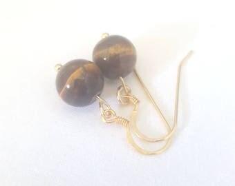 Tigers-eye earrings