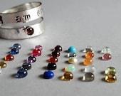 Sterling - I am enough - self esteem - positive affirmation - meditation - ring - women - adjustable - personalized - wrap ring