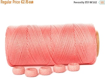 ON SALE Waxed Cord for Macrame, 15 meters/16 yards Linhasita 324 Beading Cord, Dream catcher, Macrame Thread, Best Cord for Macrame - Pink