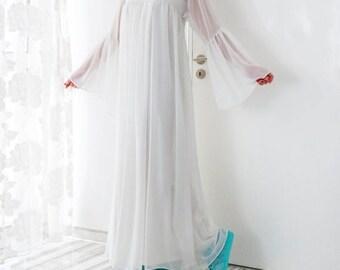 SALE ON 20 % OFF White Summer Dress/ Chiffon dress/ Party dress/ Caftan/ Plus size dress/ Plus size clothing/ Summer dress/ Long dress