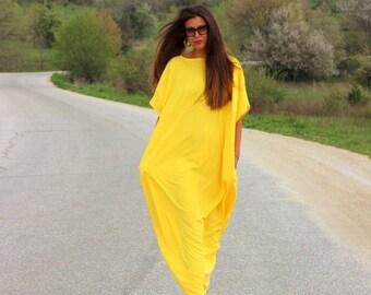 SALE ON 20 % OFF Yellow Dress/ Kaftan/ Long dress/ Caftan/ Plus size dress/ Plus size clothing/ oversized dress/ Casual dress/ Party dress