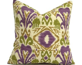 Outdoor Pillows Outdoor Pillow Covers Decorative Pillows ANY SIZE Pillow Cover Purple Pillow Richloom Outdoor Sumter Ikat Vinyard