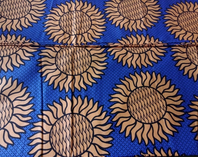 1 YARD Mitex Holland Print Cotton Fabrics For Craft Making Dresses Skirts Shirts Also Know as African Fabrics Kitenge Chitenge Kikwembe