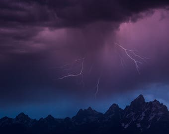 Summer Storm, Grand Teton National Park, Wy, 2017