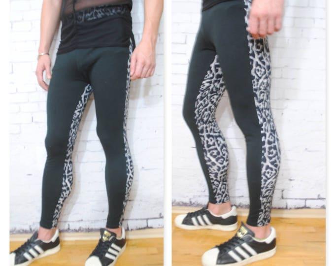 Black and White Cheetah Printed Megging