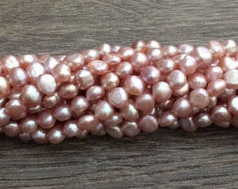 Pink Fresh Water Pearl, Pearls, Semi Precious Beads, 7mm