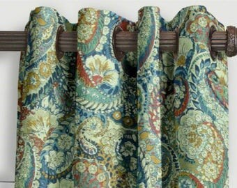 sale robert allen zen paisley curtains from small window curtains through extra long 2 story drapes
