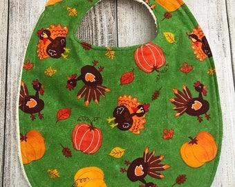 Turkey Fall/Thanksgiving Bib