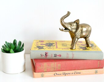 Vintage Brass Elephant Paperweight Decoration