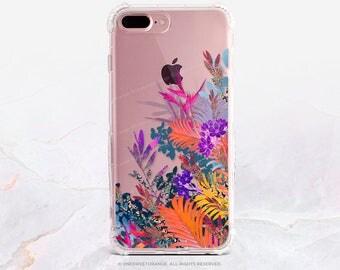 iPhone 7 Case Summer Floral Clear GRIP Rubber Case iPhone 7 Plus Clear Case iPhone 6 Case iPhone 6S Case iPhone SE Case Samsung S7 Edge U73