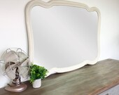 French Mirror - Vintage Home Decor -  Vintage Room Decor - Dresser Mirror - Large Bathroom Mirror - Big Wall Mirror - Shabby Chic Mirror