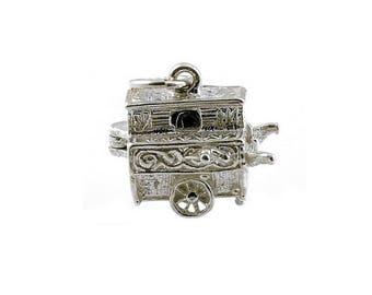 Sterling Silver Opening Organ Grinder Charm For Bracelets