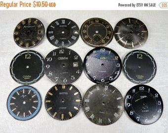 ON SALE Vintage Watch Faces - set of 12 - c10