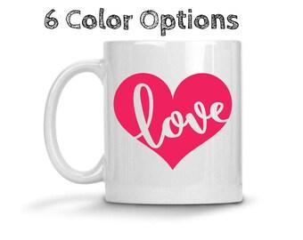 Love Heart Coffee Mug, Valentine's Day, Valentine's Day Coffee Mug, Love Heart Coffee Mug