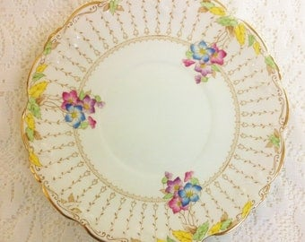 Collingwood 1940s Hand Painted Cake Plate