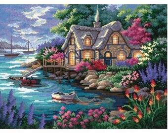 Cottage Cove Needlepoint Kit