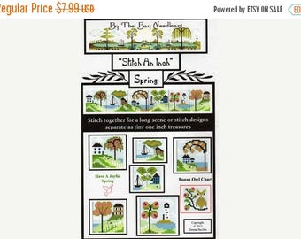 25% OFF SALE SALE By the Bay Needleart Stitch An Inch Spring Cross Stitch pattern