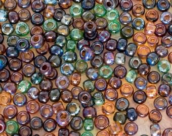 6/0 Toho Transparent Picasso Mix Seed Beads, 1718, Transparent Picasso 6/0 Seed Bead Mix, 16 Grams