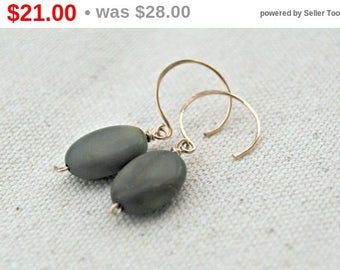 CIJ SALE** suki... gold jasper earrings / red creek jasper & 14k gold filled earrings