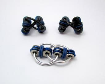 Blue Fidget Toy in Black or Silver - Stress Reliever Toy - Fidget Toy for Autism, ADHD, ADD, OCD etc - Autism Charity Fundraiser!