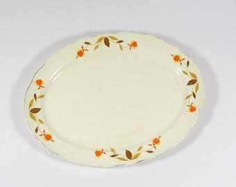 Hall China Dinnerware by Mary Dunbar Jewel T Autumn Leaf - Oval Platter