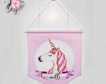 Magical Unicorn personalised banner.