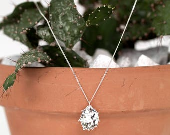 Prickly Pear Necklace- Sterling Silver