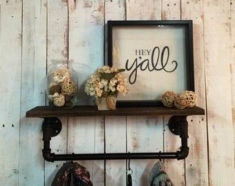 ON SALE Rustic Wood Shelves, rustic shelf, industrial shelves, industrial shelf, wooden shelf, rustic home decor, wall shelf, entry way shel